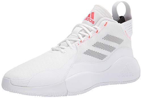 adidas mens Training Basketball Shoe, FTWWHT/SOLRED/CBLACK, 15 US