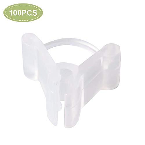 hemicala Pflanzenklammern Pflanzenklammern 100PCS Mini Transparente Kunststoff-Pfropfklammern Klammern Pflanzensaat unterstützt Steckverbinder