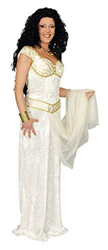 narrenkiste K31250527-40-42-A - Vestido romano para mujer (talla 40-42), color blanco