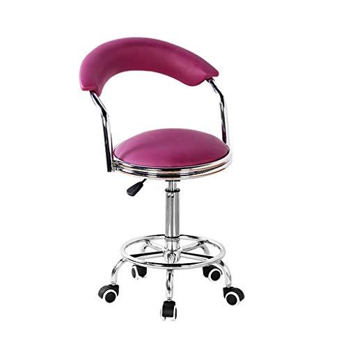 Niuniu Draaibank met wielen, barkruk, werkbank, beautystoel, kapstoel, 360° gratis rotatie
