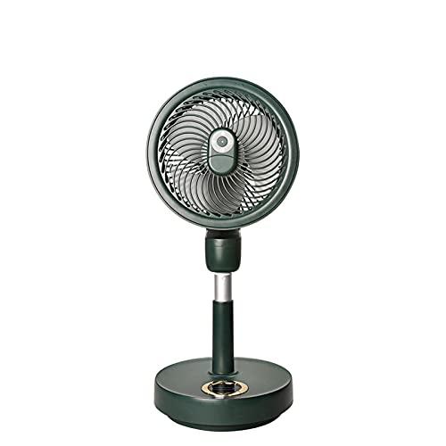 DIANZI Ventilador telescópico plegable USB recargable con mando a distancia giratorio de 120 grados suministros de oficina en el hogar