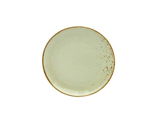 Creatable EARTH 22057 - Juego de 6 platos de postre (21 cm, cerámica), color blanco