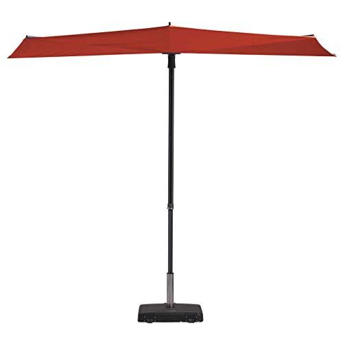 Madison Balkonschirm 50+ UV-Schutz Sonnenschirm Terrassenschirm Ampelschirm Marktschirm Gartenschirm Schirm 270x150cm Ziegelrot Aluminium Stahl