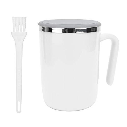 Selbstrührende Kaffeebecher, Intelligente Automatische Selbstmischende Tasse für Büro/Küche/Reise/Zuhause, Lazy Person Gift - 360ML(Weiß)