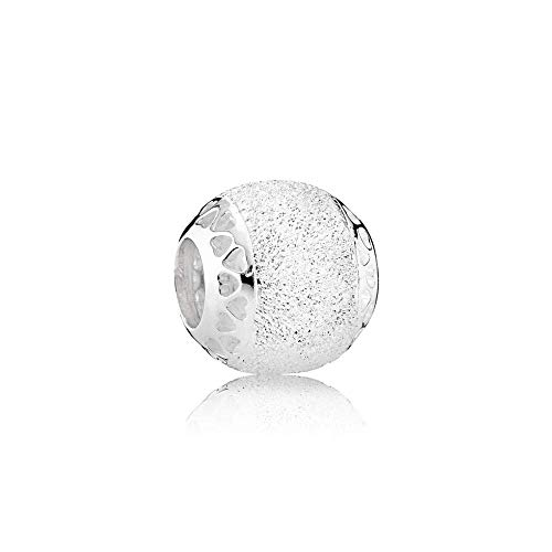 Pandora Women's Moments Sparkling Structured Hearts Charm Sterling Silver 792097