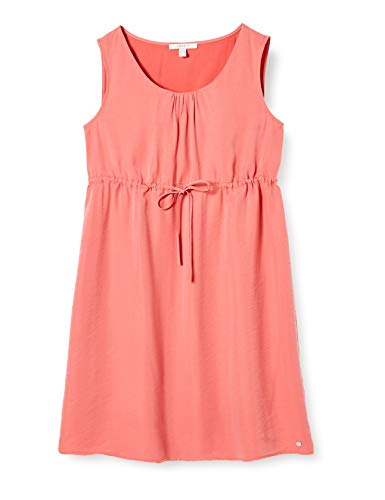 ESPRIT Maternity Damen Dress WVN Sl Kleid, Rot (Coral 645), (Herstellergröße: 38)