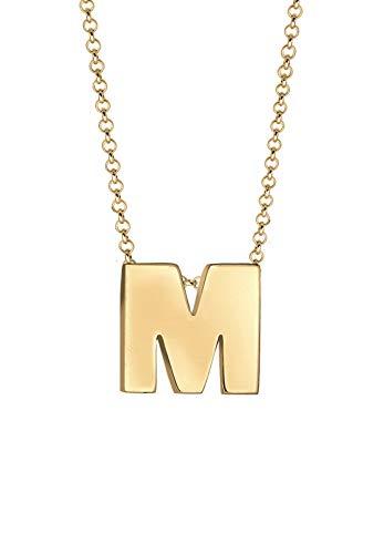 Elli Halskette Buchstabe M Initialen Trend Minimal 925 Silber