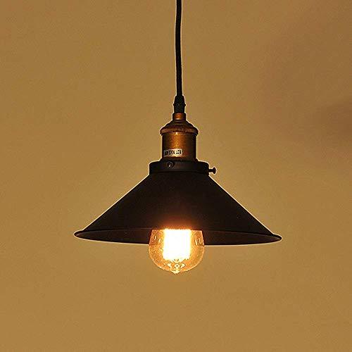 LKK-KK Vintage Comedor Sala Luz pendiente de la lámpara Hierro Metal la decoración del arte de la sala Colgante accesorio del techo del café de la barra oficina ligera pendiente de la luz E27 Edison D