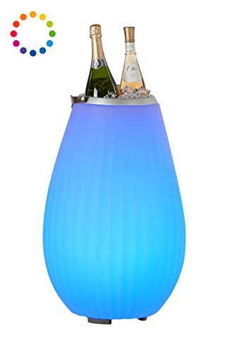 The Joouly 65 - Bluetooth Lautsprecher mit Licht in 9 wechselbaren Farben, per App steuerbar, Getränkekühler, 8.800 mAh Akku (ca. 11 Std. Laufzeit), JOOULYs koppelbar, Mod. 2020