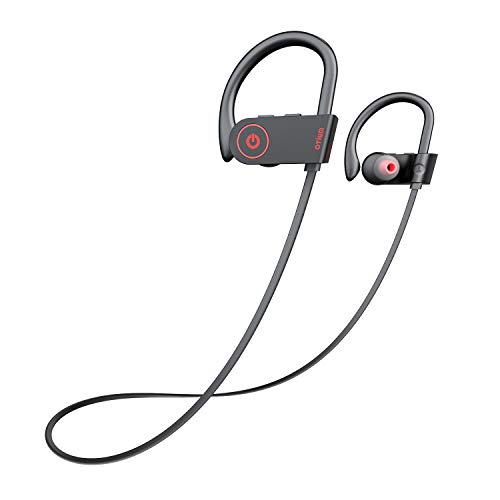 Otium Bluetooth Headphones, Wireless Sports Earphones with Mic IPX7 Waterproof HD Stereo Sweatproof in-Ear Earbuds, Gym Running Workout 8 Hour Battery Noise Cancelling Headsets