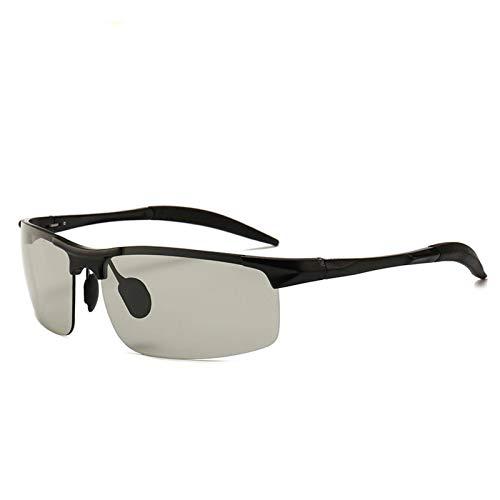 N-B Polarizador FotocromáTico Deportes Al Aire Libre para Hombres Gafas De Sol De Aluminio Y Magnesio ConduccióN Espejo De ConduccióN