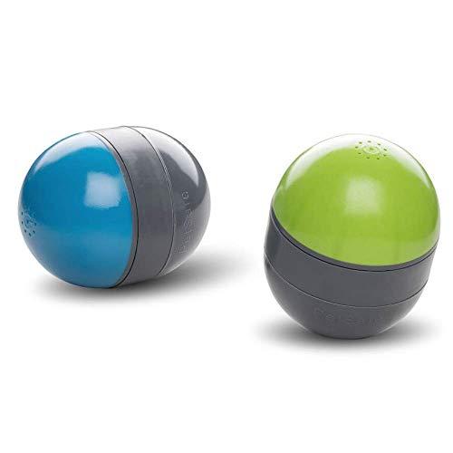 PetSafe Ricochet Interaktives Hundespielzeug, Elektrisches Hundespielzeug, Automatisches Hundespielzeug, Intelligenzspielzeug für Hunde, Quietscht und Rollt über den Fußboden, 2 Stück