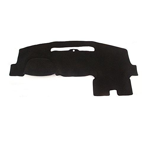 Hex Autoparts Dash Cover Mat Dashboard Pad Black for Chevrolet Silverado 2015 2016