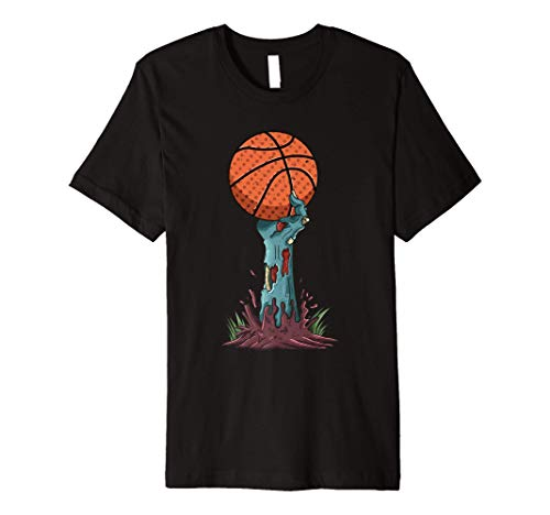 Zombie Hands Basketball Funny Halloween Horror Scary Costume Premium T-Shirt