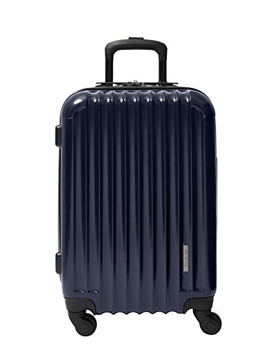 Aer de Aer Premium Carry On Luggage Spinner - Super Light Weight, Maximum Capacity - The Carry On, Re-Imagined, Navy