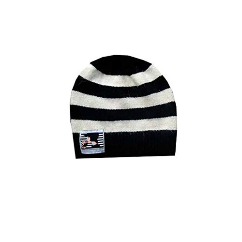 Guinness Black and Cream Striped Ladies Winter Hat - One Size