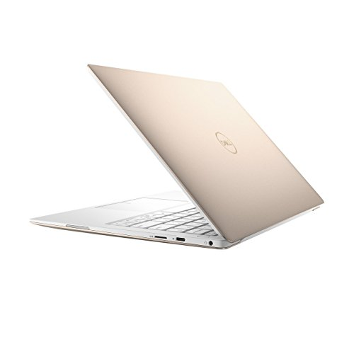 "2019 Dell XPS 9370 13.3"" 4K UHD Multitouch Thin & Light Laptop, Intel Quad Core i7-8550U Upto 4.0GHz, 8GB RAM, 256GB SSD, Backlit Keyboard, Thunderbolt3, Windows 10, Rose Gold with White Palmrest"