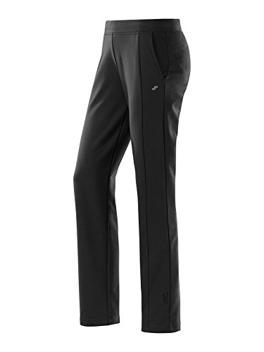 Joy Sportswear Freizeithose SINA für Damen - sportliche Jogginghose mit geradem Schnitt | Lange Sport Hose mit hohem Baumwolle & Stretch-Material Normalgröße, 40, Black