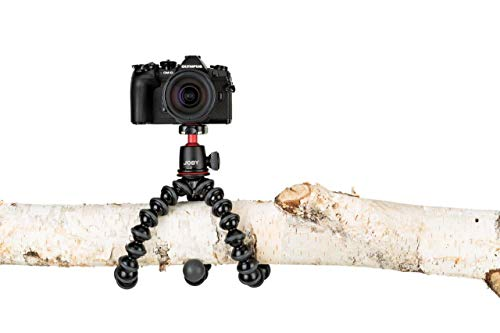 JOBY GorillaPod 3K Kit. Compact Tripod 3K Stand and Ballhead 3K for Compact Mirrorless Cameras or Devices up to 3K (6.6lbs). Black/Charcoal.
