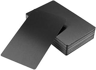 DEWIN Tarjetas de Visita - Impresionante Blanks láser Marca grabada de Metal de Negocios a Las Tarjetas conocidas, 50Pcs ( Color : Black )