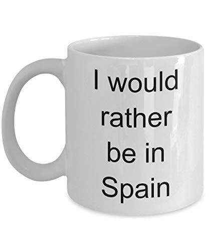 Betsy34Sophia geschenk voor Spanje-liefhebbers Ik hou van Spanje-beker Spaanse liefhebbers Ik zou eerder in Spanje zijn Spaanse trots reisgeschenk-koffiemok grappig
