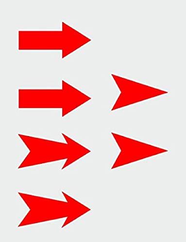 Flecha Enganche Gancho Remolque Tow Rally Pack 6 Unidades para Coche (Rojo) pegatina sticker