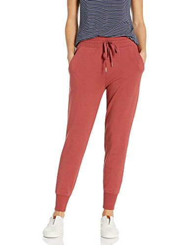 Amazon Brand - Daily Ritual Women's Relaxed Fit Terry Cotton and Modal Jogger, Brick, Large
