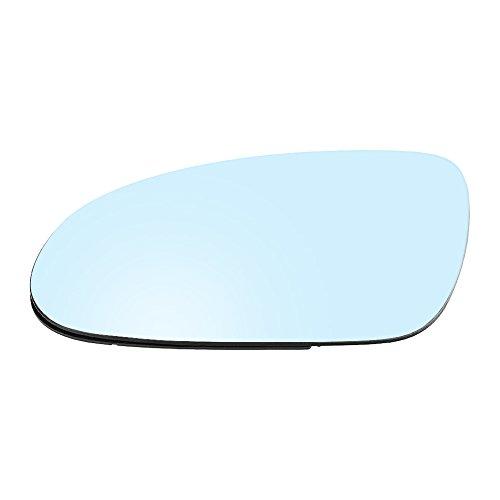 Vidrio de espejo de puerta climatizada del coche, Vidrio de espejo retrovisor convexo con placa de soporte de plástico, Lado izquierdo del pasajero