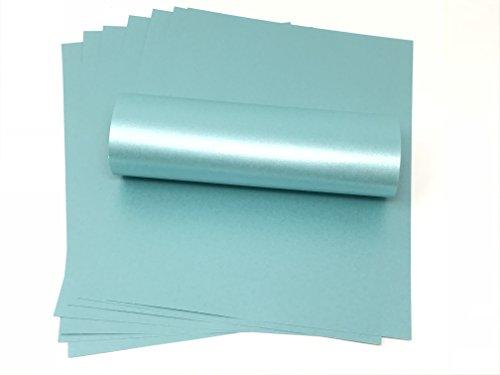 20 Blatt Meeresblau Perlglanz-Papier, 100 g/m², für Tintenstrahl- und Laserdrucker