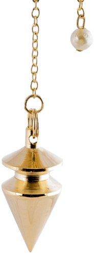 Berk PE-1361 - Péndulo de latón (chapado en oro, con cadena, para ra