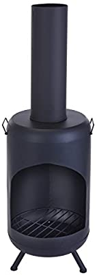 Outdoor Garden Chimney Fireplace Fire Pit Chiminea Heater - Two Sizes Available Height 124cm from Gardening-Naturally