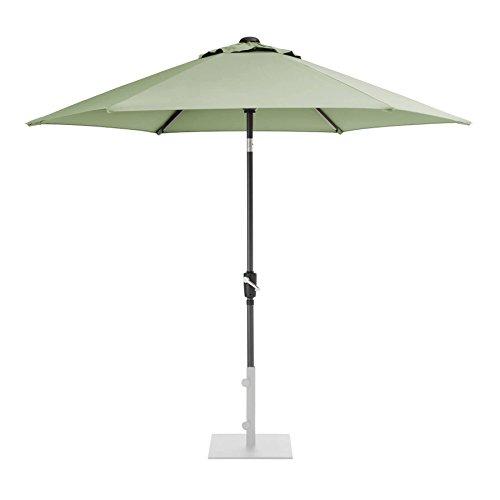 KETTLER 2.5m Wind Up Parasol with tilt Grey frame and Sage Canopy