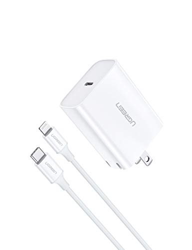 UGREEN USB C Charger 18W PD Fast Charger with 3FT C to Lightning Cable [MFi Certified] Type C Wall Charger for AirPods Pro, iPhone 11 Pro Max Xs Max XR X 8 Plus, iPad Pro