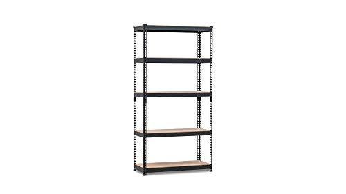 HOMEDANT 5-tier Metal Shelving Unit Adjustable Garage Storage Utility Rack Heavy Duty Shelves Organization Multipurpose Shelf Warehouse Basement Kitchen Living Room 35.9