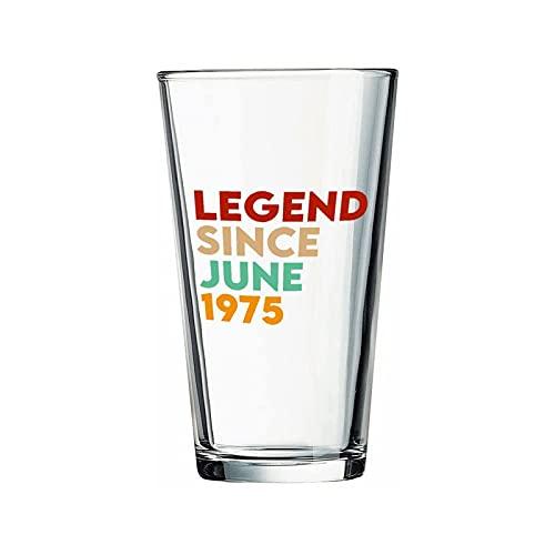 Legend Desde junio de 1975 Copas de cerveza personalizadas, vaso de cerveza de pinta de 16 onzas ideas para crismas,Día de Acción de Gracias, papá, mamá, marido, esposa, padre...