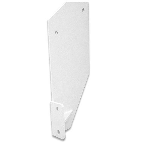Dachsparrenhalter für Gelenkarm-Markise weiß Dachsparrenhalterung Halterung Markise Konsole Deckenkonsole Montagekonsole Balkenkonsole