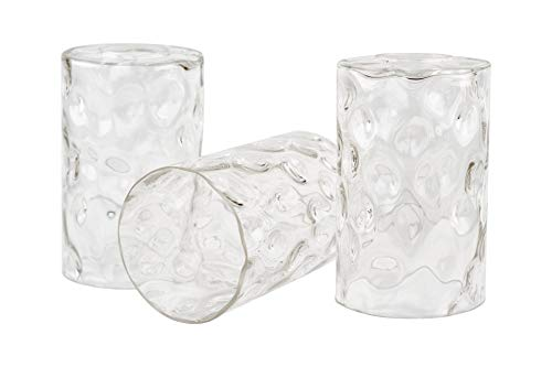 Clear Replacement Glass 1.75 Fitter Size 3-Pack 5.5 x 5.75 Kira Home Porter 5.5 Glass Shades