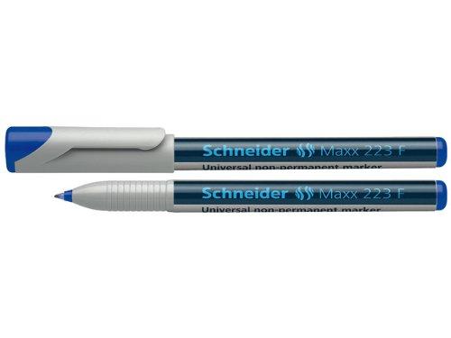 Schneider Maxx 223 F Universal-Marker (non-permanent, feucht abwischbar, 0,7 mm) 10er Packung blau