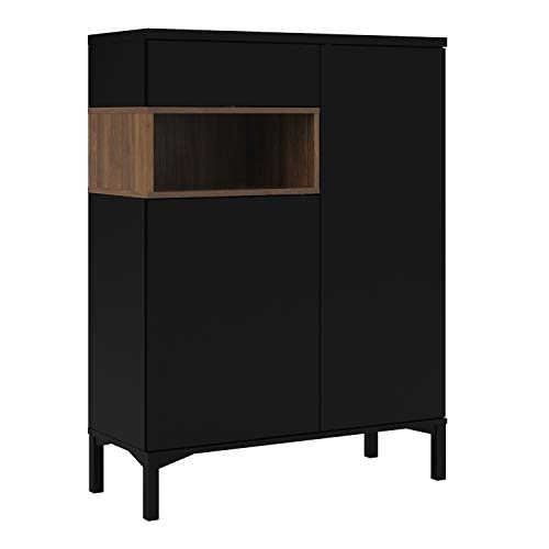 Furniture to Go Sideboard, Schwarz und Walnuss, Small