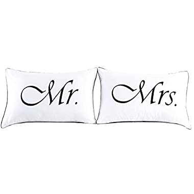 Couples Pillowcases for Girlfriend Boyfriend,Cute, Wedding Gift, 19x29Inch (9)