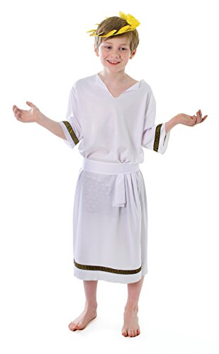 Bristol Novelty Costume da Ragazzo Greco (L) Bambino Età 7 - 9 anni