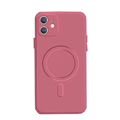 Fundas y Carcasas para teléfonos móviles Adecuado para Gel de sílice magnético iPhone12,Pink,iPhone 11Pro