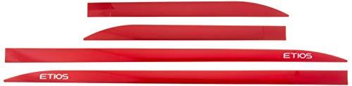 Jogo Frisos Laterais Slim, Flash Acessórios, Etios Vermelho Furia (4 Peças)