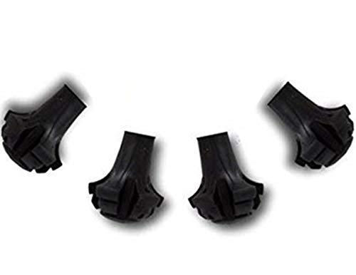 EPRHY Puntas de repuesto extra duraderas para bastones de trekking. Paquete de 4 patas, pies y tapas de repuesto para la mayoría de bastones de senderismo.