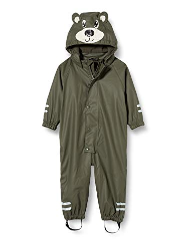 NAME IT Mädchen NMMDRY RAIN Suit FO Regenanzug, Thyme, 110