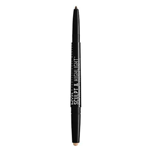 NYX PROFESSIONAL MAKEUP Sculpt & Highlight Brow Contour, Eyebrow Pencil, Brunette Cream