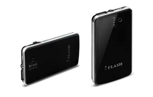 iFlash Ultra Slim 3200mAh Portable Power Bank Backup External Battery Charger with Embedded Micro-USB and Flashlight for iPhone 6/6Plus/5S/5C/5/4S/4, iPod Touch Nano (OEM CABLE REQUIRED for Apple); Android Smartphones: HTC ONE M7 M8 Samsung Galaxy S6 S5 S4, S3, S2, Galaxy Note 2 / 3 / 4 Motorola MOTO X/G, LG G2 / G3, Sony Xperia Z, PSP, and OnePlus One ...Many More Mobile Devices - Black [Ultra Slim 0.4 Inch Profile]