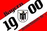 Bayern 1900 mit Münchner Kindl Fussball Fahne Flagge Grösse 1,50x0,90m - FRIP –Versand®