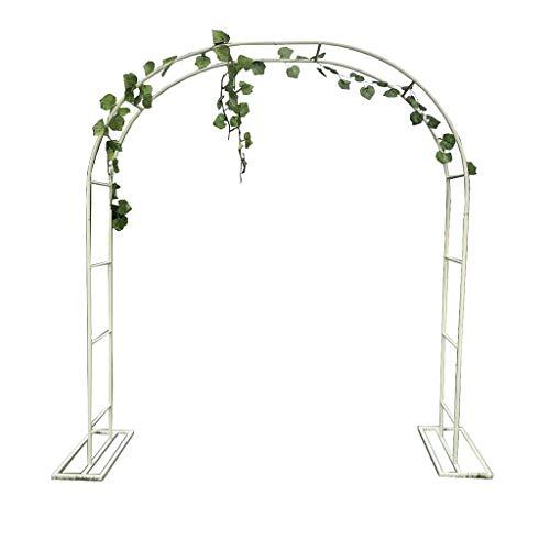 XLOO Bogen für Kletterpflanzen, Gartenbogen, Gartenlaube, Weiß, Metall, mit Stützrahmen, Mehrere Größen, Hochzeitsbogen Feierliche Dekoration
