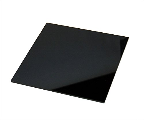 Pack de láminas tableros de metacrilato negro de 3mm. Para decoración, artistas, fotografías, vinyls, soportes, manualidades, CNC, laser, regalos. (A4 (10 uds 297x210mm))